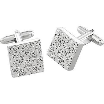 Duncan Walton Braxton Essential Damask Cufflinks - Silver