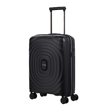 TITAN Looping Hand Luggage Trolley S, 4 ruedas, 55 cm, 37 L, negro