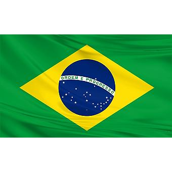 Brazilië Vlag 5ft x 3ft Polyester Stof Land Nationaal