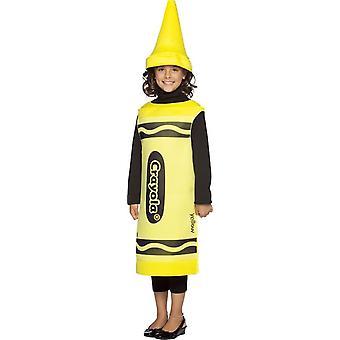 Costume enfants Crayola jaune