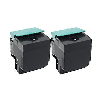 RudyTwos 2x Replacement for Lexmark C540H1KG Toner Unit Black Compatible with C540n, C543dn, C544dn, C544dtn, C544dw, C544n, C546dtn, X543dn, X544dn, X544dtn, X544dw, X544n, X546dtn