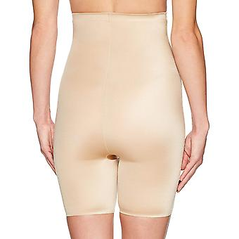 Arabella Women's Shine High Waist Thigh Control Shapewear with Spacer, Sand, ...
