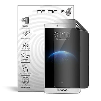 Celicious Privacy 2-Way Anti-Spy Filter Screen Protector Film Compatível com Oppo R7 Plus