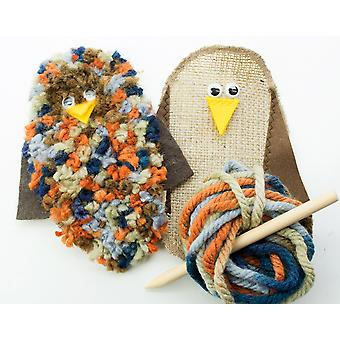 Kit to Make Little Rag Rug Owl  - Adults Crafts