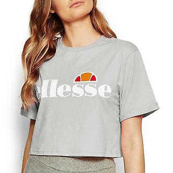 Ellesse Alberta Seasonal Womens Ladies Fashion Crop Top T-Shirt Tee Light Grey
