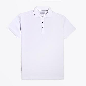 Thomas Maine  - Marled Polo Shirt - White