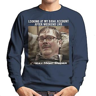 Friday Night Dinner Sad Jim Meme Men's Sweatshirt