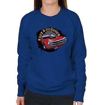 Fast and Furious Car Splatter Women's Sweatshirt