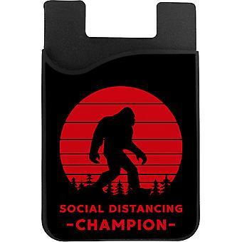 Sosiaalinen Distancing Champion Puhelinkortin haltija