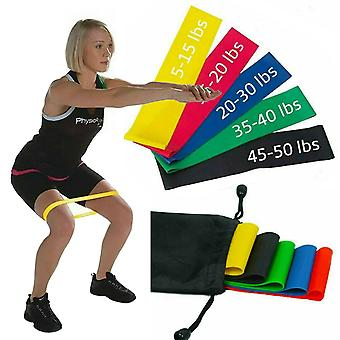 Set 5 Loop Resistance Bands Home Gym Sport & Fitness Exercise Equipment