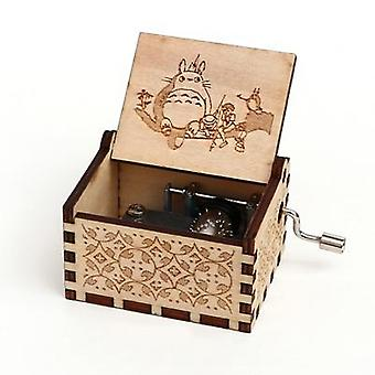 Totoro- 18 Tones, Hand Cranked, Wooden Music Box