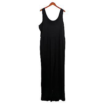AnyBody Women's Jumpsuit Plus Cozy Knit Tank Black A374515