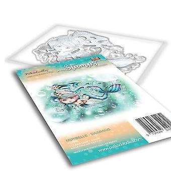 Polkadoodles Meribelle Swimming Clear Stamp