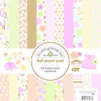 Doodlebug Design Sugar & Almofada de papel Spice 6x6 Polegada