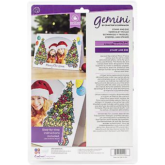 Gemini O'Christmas Tree Photo Frame Stamp & Dies