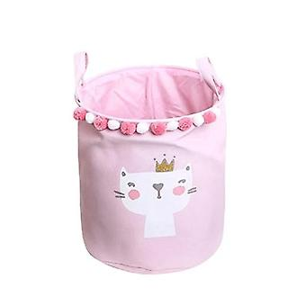 Cute Cartoon Foldable For Picnic Laundry Basket Toy Storage Bucket - Dirty Clothes Basket Box Canvas Organizer