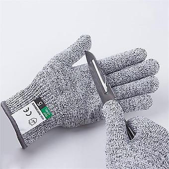 Level 5 Cut Proof Stab Resistant Glove - Kitchen Butcher Cuts Gloves For Oyster Shucking Fish Gardening Safety Gloves