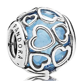 Pandora blauw ingekapseld in liefde charme - 792036NBS