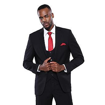 Plain black 3-piece men's suit | wessi