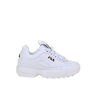 Fila 1010302 Kvinder's Hvide Læder Sneakers