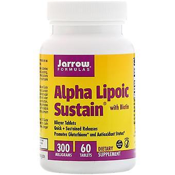 Formules Jarrow, Alpha Lipoic Sustain avec Biotine, 300 mg, 60 comprimés