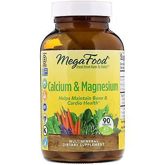 MegaFood, Calcium & Magnesium, 90 Tablets