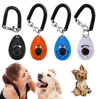 Dog Training Clicker - Adjustable Sound Key Chain And Wrist Strap Remote Controlled