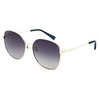 Sonnenbrille Damen  Claire   polarisiertes Gold mit blau/violetter Linse (pclai02)