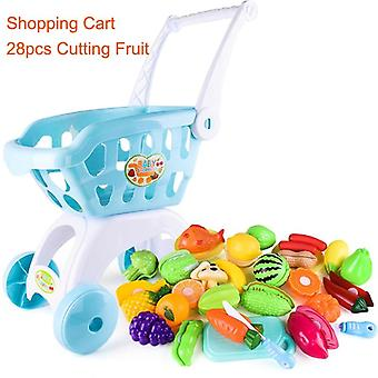 Kinderen Handkar Simulatie Supermarkt Hand Trolley- Mini Shopping Cart Creative Play Rol In Pretend Game Toys Gifts For Kids