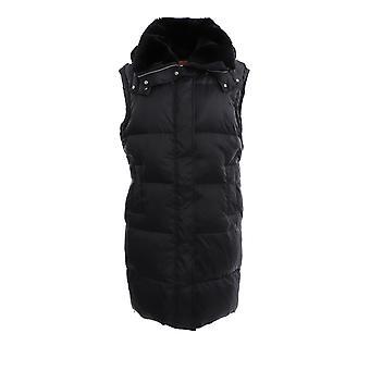 Yves Salomon 21wyg02200tedic99 Women's Black Nylon Vest