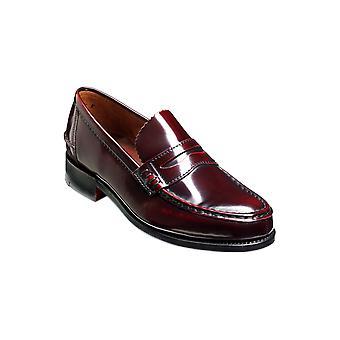 Barker Caruso - Burgund Hi-Shine | Herren handgefertigte Leder Loafers | Barker Schuhe