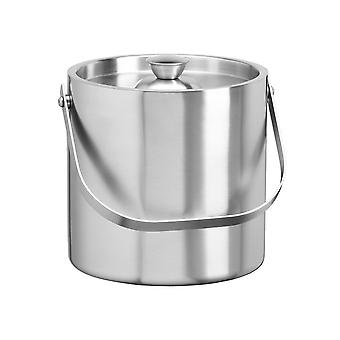 Brushed Stainless Steel 3 Qt. Brushed Stainless Steel Doublewall Ice Bucket