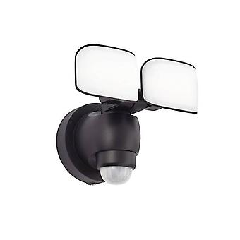 Geïntegreerde LED Outdoor Wall Light Black Abs Plastic, Frosted IP44