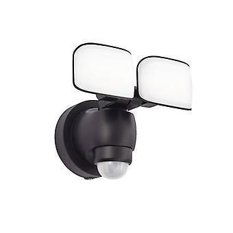 Integreret LED Udendørs Wall Light Black Abs Plast, Matteret IP44
