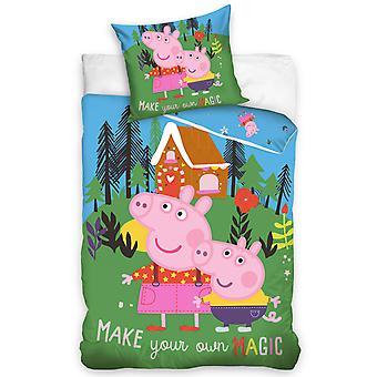 Peppa Pig Magic Single Duvet Cover Set - European Size
