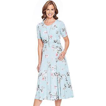 Amber Ruched 46 tuuman pituus paneeli vyötärö mekko
