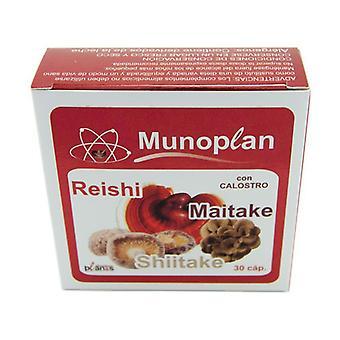 Munoplan - Colostrum, Reishi, Maitake et Shiitake 30 capsules