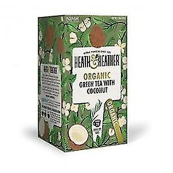 هيث & هيذر-الشاي الأخضر العضوي & أكياس جوز الهند 20