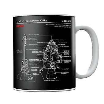 NASA Apollo CSM Escape System Blueprint Mug