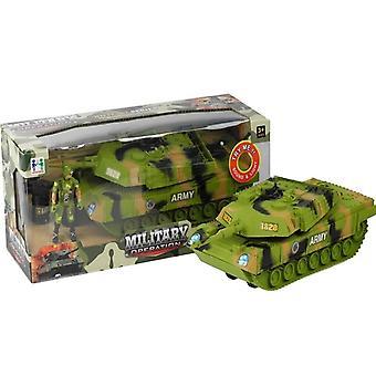 Speelgoed leger tank - Met geluiden & lichten op batterijen