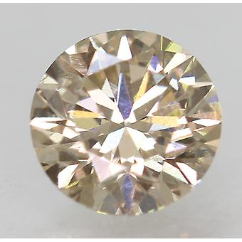 Cert 0.50 Carat Top Light Brown VS1 Round Brilliant Natural Diamond 5.1mm EX CUT