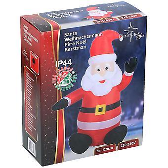 Santa Nikolaus aufblasbar 120 cm LED Aufblasnikolaus Weihnachten Polar Deko Christmas mit Motor Blow Up