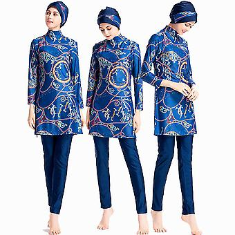 Muslim Print Swimsuit, Fashion Hasema Without Pad Swimwear