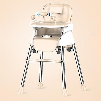 Adjustable And Portable Kids Multifunctional High Chair With Tray Table