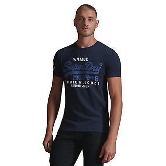 חולצת טי לוגו וינטאג' סופר-דרי כחול 58