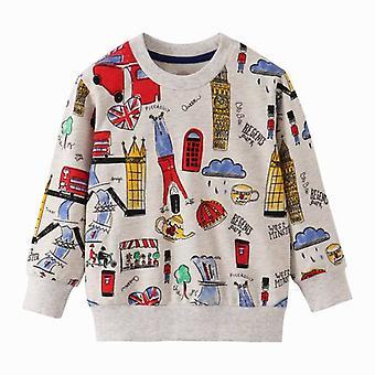 Sweat-shirt Cotton Giraffe-print Toddler Kid's