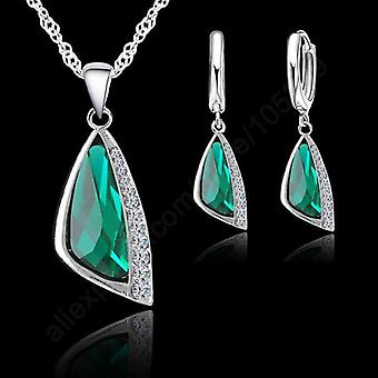 925 Sterling Silver Cubic Zirconia Fashion Jewelry Necklace Pendant Earrings