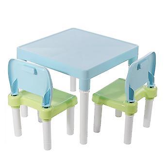 Sammenleggbart bord- og stolsett, skrivebord for spilllæringsbord