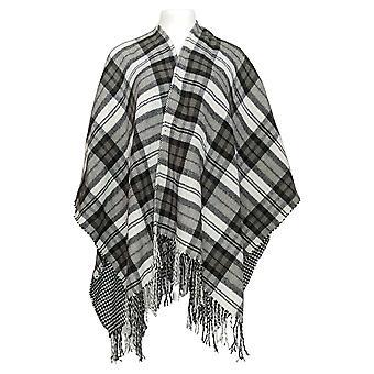 Isaac Mizrahi Live! Women's Sweater Reversible Ruana Black A371008