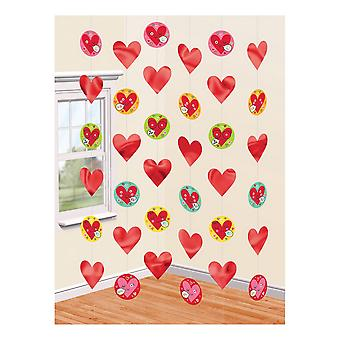 Amscan Hearts Faces Strings Decorations